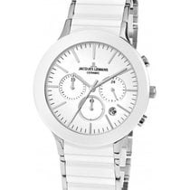 Jacques Lemans Classic Dublin Chrono Watch 42mm Sapphire Ceram...