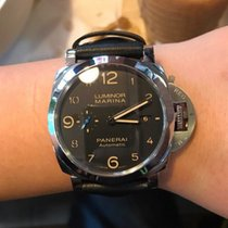 Panerai Luminor Marina 1950 3 Days Automatic PAM01359 Panerai LUMINOR Acciaio Nero Pelle Piccoli Secondi new