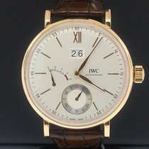 IWC Rose gold Manual winding Gold Roman numerals 45mm pre-owned Portofino Hand-Wound
