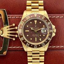 Rolex 1675 GMT Master 18k Gold Unpolished NOS Condition Brown...
