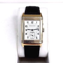 Jaeger-LeCoultre Reverso Duoface pre-owned Silver GMT Crocodile skin