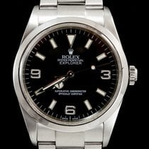 Rolex Explorer Staal 36mm Zwart Arabisch
