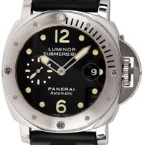 Panerai Luminor Submersible pre-owned 44mm Black Date Fold clasp