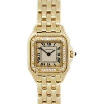 Cartier Panthère Yellow gold 25mm White Roman numerals