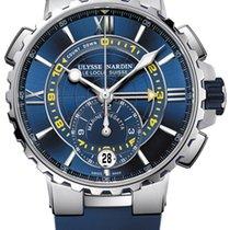 Ulysse Nardin Marine Regatta Steel 44mm Blue Roman numerals