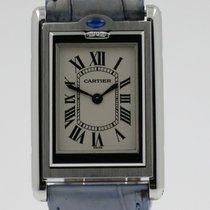 Cartier Tank (submodel) Staal 24mm Wit Romeins Nederland, Nijmegen  (www.horloge-sieraden.nl)