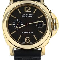Panerai Or jaune Remontage automatique Noir 44mm Luminor Marina Automatic
