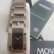 Movado Elliptica Stål 38mm Sort Arabertal