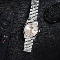 Rolex Day-Date 36 Witgoud 36mm Zilver Geen cijfers Nederland, Haarlem