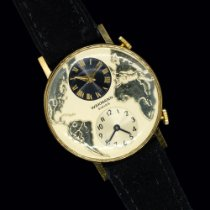 Wakmann Gold/Steel 35mm Manual winding Wakmann Dual-Time circa 1965 gold-plated pre-owned