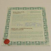 Rolex Warranty Certificate Ref: 16570
