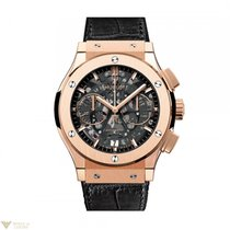 Hublot Classic Fusion Aero Chronograph 18K Rose Gold Leather...