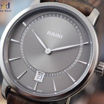 Rado DiaMaster Plasma High-tech Ceramic/Leather 40mm Grey Indexes