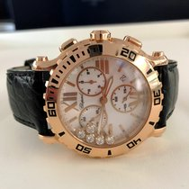 Chopard Happy Sport Chronograph Rose Gold Diamonds 42 mm (Full...