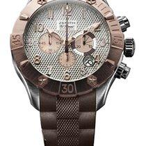 Zenith Defy Chronograph 18K Rose Gold & Stainless Steel Men's...