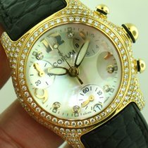 Corum Bubble 18K Factory Pave Diamond Case Ladies Watch. Mint