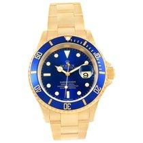 Rolex Submariner Gold Blue Face