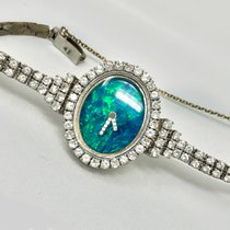 Ebel GORGEOUS 1970s OPAL EBEL w/ 3+ carats, 18kt White Gold Opal 1970 pre-owned
