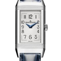 Jaeger-LeCoultre Reverso Duetto Stahl 20mm Silber Arabisch