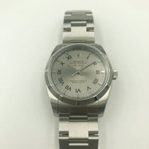Rolex Air King Steel 34mm Silver Roman numerals