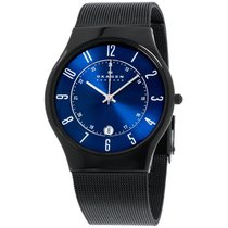 Skagen Grenen Blue Dial Titanium Men's Watch T233xltmn