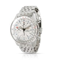 Breitling Navitimer World pre-owned 46mm Silver Steel