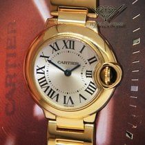 Cartier Ballon Bleu 28mm Yellow gold 28mm Silver Roman numerals United States of America, Florida, 33431
