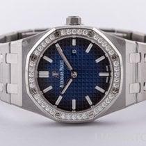 Audemars Piguet Royal Oak Lady Titanium 33mm Blauw Geen cijfers