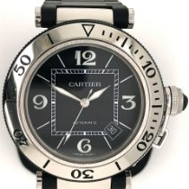 Cartier Pasha Seatimer Steel 40mm Black Arabic numerals