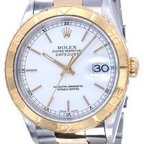 Rolex Datejust Turn-O-Graph Goud/Staal 36mm Wit Geen cijfers Nederland, Katwijk aan zee