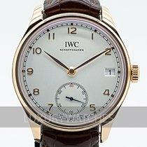 IWC Portuguese Hand-Wound Ouro rosa 43mm Prata