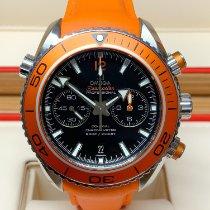Omega Seamaster Planet Ocean Chronograph Сталь 45.5mm Чёрный Без цифр