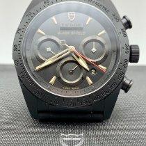 Tudor Fastrider Black Shield gebraucht 42mm Schwarz Chronograph Datum Kautschuk