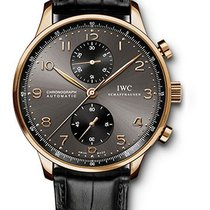 IWC Portuguese Chronograph Rose gold 40.9mm Grey Arabic numerals