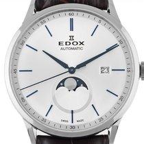 Edox Les Vauberts Steel 42mm Silver