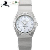 Omega Constellation Quartz Acier 24mm Blanc