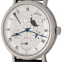 Breguet White gold Automatic Silver Roman numerals 39mm pre-owned Classique