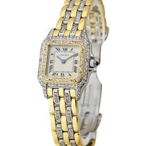 Cartier panther_full_Diamonds_3_row Panther 2-Tone in Steel...