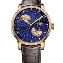 Arnold & Son Or rose Remontage manuel Bleu Sans chiffres 42mm nouveau HM Perpetual Moon