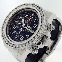 Breitling Super Avenger II pre-owned 48mm Black Chronograph Date Steel