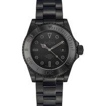 Davosa Black Ternos Steel 42mm Black No numerals