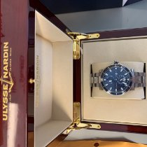 Ulysse Nardin Maxi Marine Diver pre-owned 45mm Blue Double-fold clasp