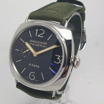Panerai pre-owned Manual winding 45mm Black Sapphire Glass 10 ATM