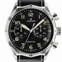 Junghans Meister Pilot new Automatic Chronograph Watch with original box and original papers 027/3591.00