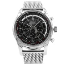 Breitling Transocean Chronograph Unitime Steel 46mm Black United States of America, New York, New York