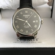 Tissot Le Locle pre-owned 39mm Black Date Leather