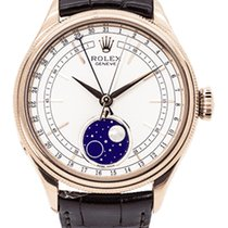 Rolex Cellini Moonphase Rose gold 39mm White