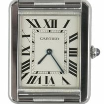 Cartier Tank Solo pre-owned 35mm White Leather