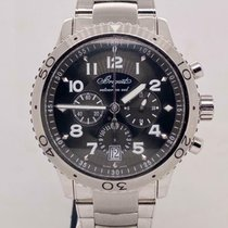 Breguet pre-owned Automatic 42.5mm Grey Sapphire crystal 10 ATM