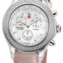 Michele Jetway Womens Stainless Steel Diamond set watch